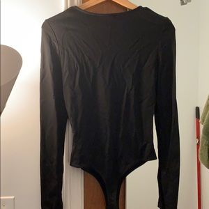 Nasty Gal Tops - Nasty Gal Corset Ring Deep V Body Suit *NEVER WORN